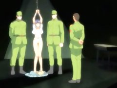 Hentai girl got imprisoned by soldiers