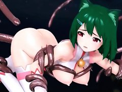 Weird hentai tentacle penetrations in 3D hentai hardcore porn