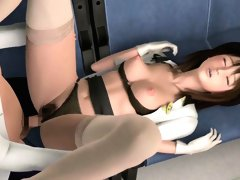 Pretty 3D hentai girl getting fucked in the bus